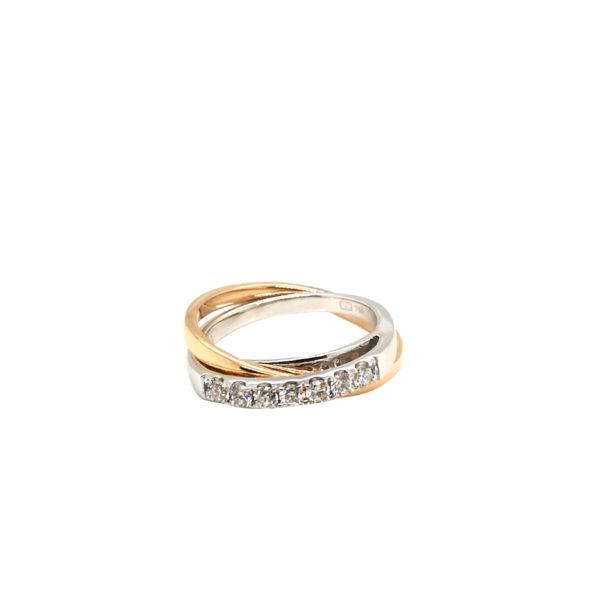 18K White/Rose Gold Diamond Ring
