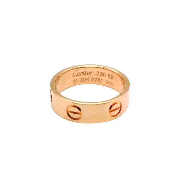 "18K Rose Gold ""Cartier Love"" Ring"