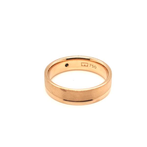 18K Rose Gold Blue Sapphire Ring