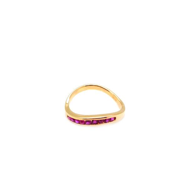 20K Yellow Gold Ruby Ring