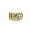 18K Yellow Gold Diamond Peridot Ring