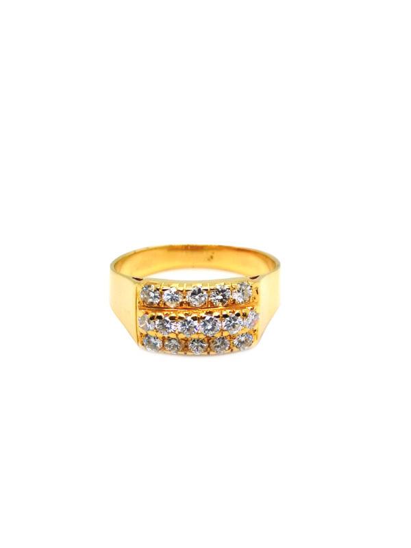 22K Yellow Gold Diamond Ring