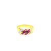 14K Yellow Gold Diamond Ruby Ring