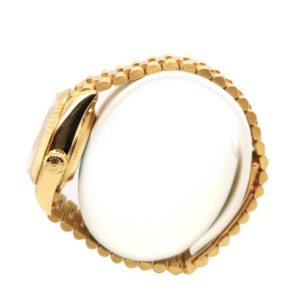 Rolex Lady Datejust Diamond 18K Yellow Gold 69178 Watch side view