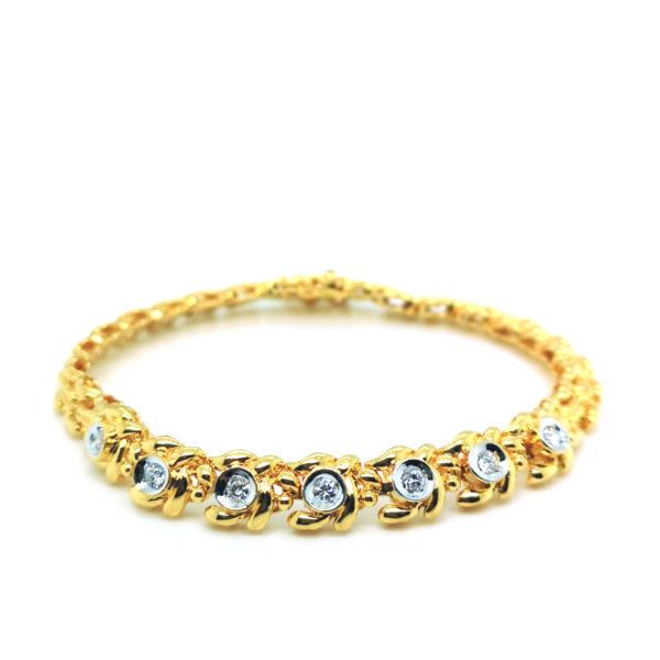 20K Yellow Gold Diamond Bracelet
