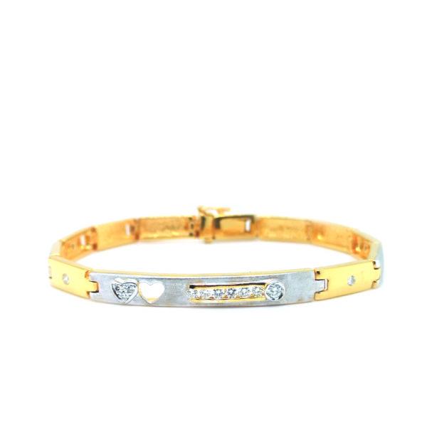 20K Yellow/White Gold Diamond Bracelet