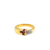 18K Yellow Gold Ruby Diamond Ring