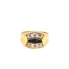 18K Yellow Gold Blue Sapphire Diamond Ring