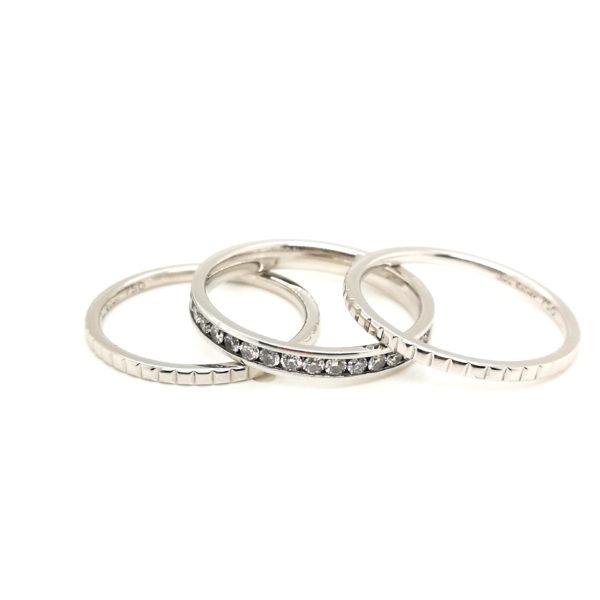 18K White Gold Black Rhodium 3in1 Diamond Ring