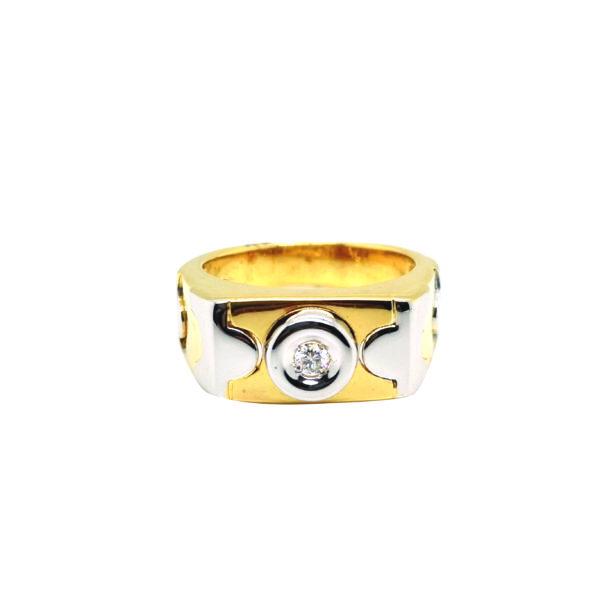 18K Yellow/White Gold Diamond Ring