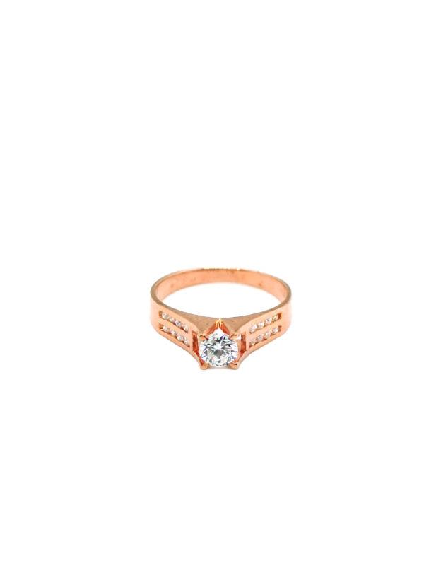 20K Rose Gold Diamond Ring