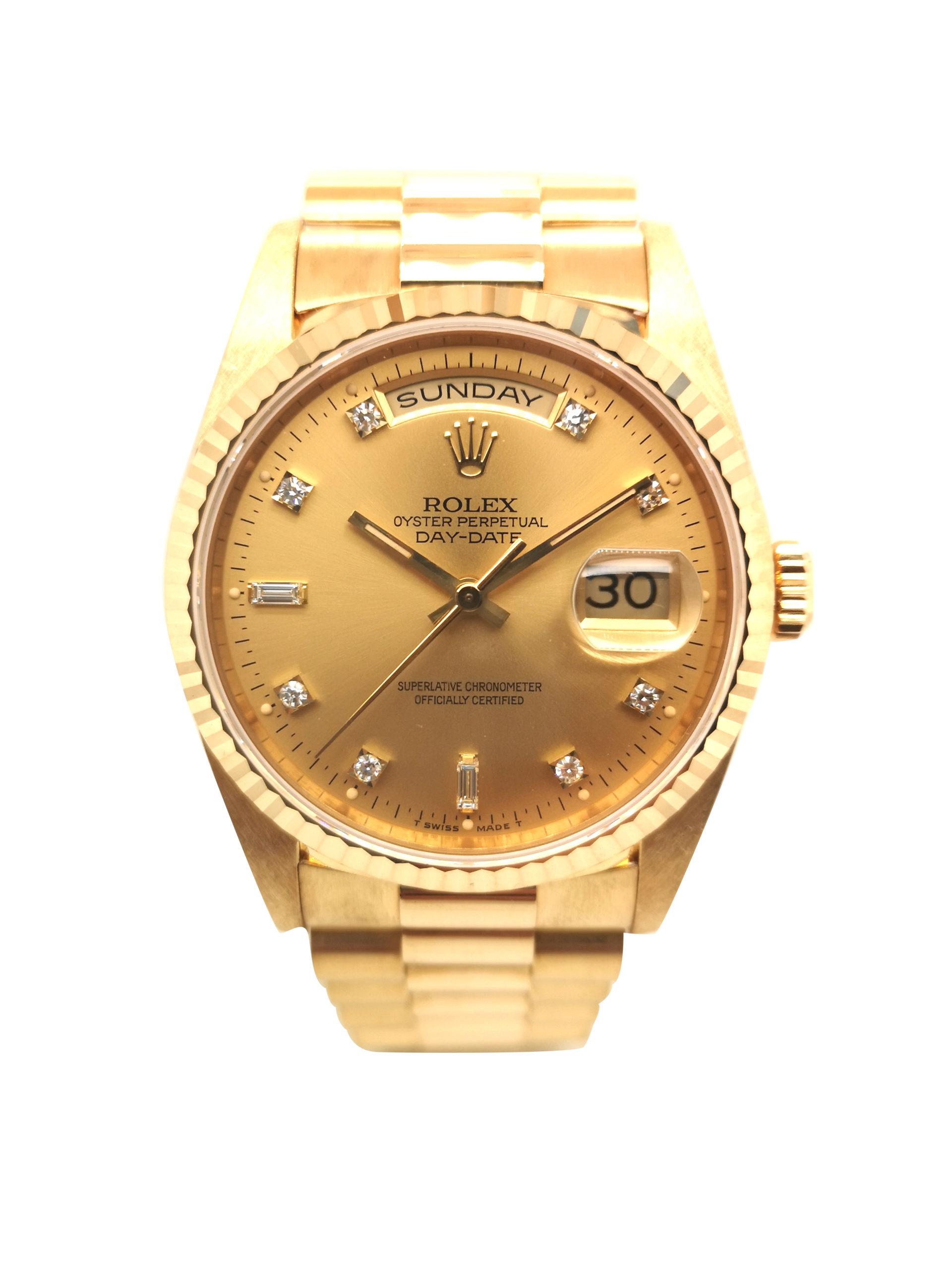 Rolex Day-Date Diamond 18238 Watch