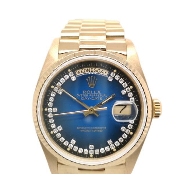 Rolex Day-Date Diamond 18K Yellow Gold 18038 Watch