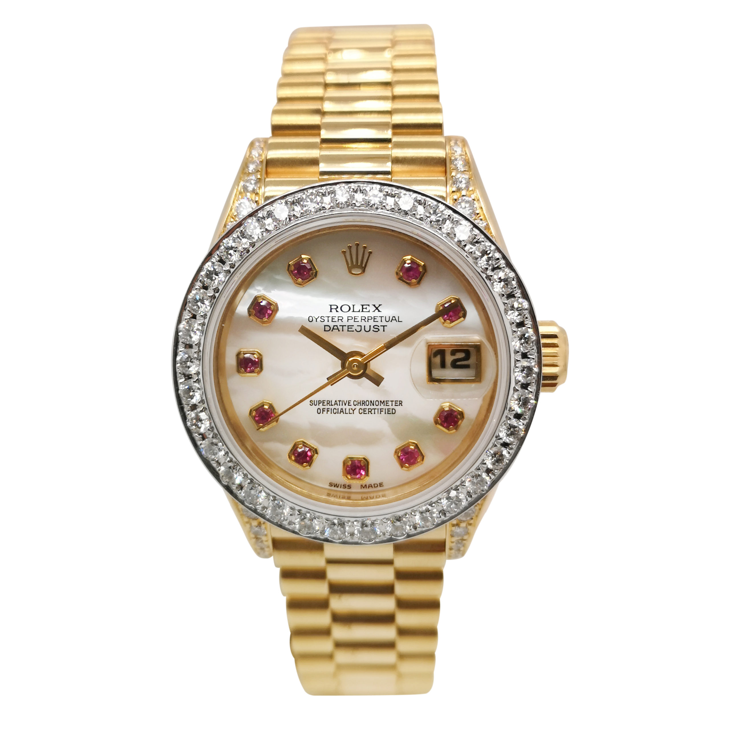 Rolex Datejust Ruby MOP 69238 Watch