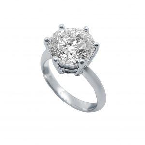 White Gold 6 Claw Diamond Ring