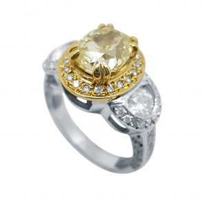 White / Yellow Gold Diamond Ring