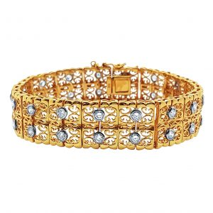 Yellow/White Gold Diamond Bracelet