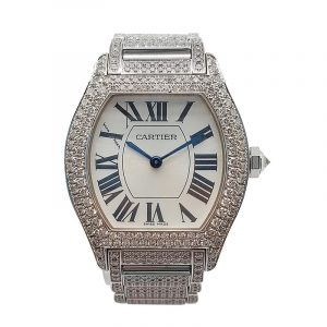 18K White Gold Cartier with Diamond