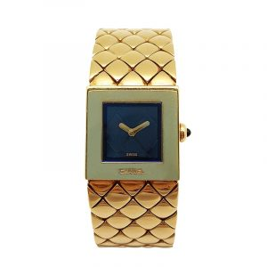 18K Yellow Gold Channel Watch