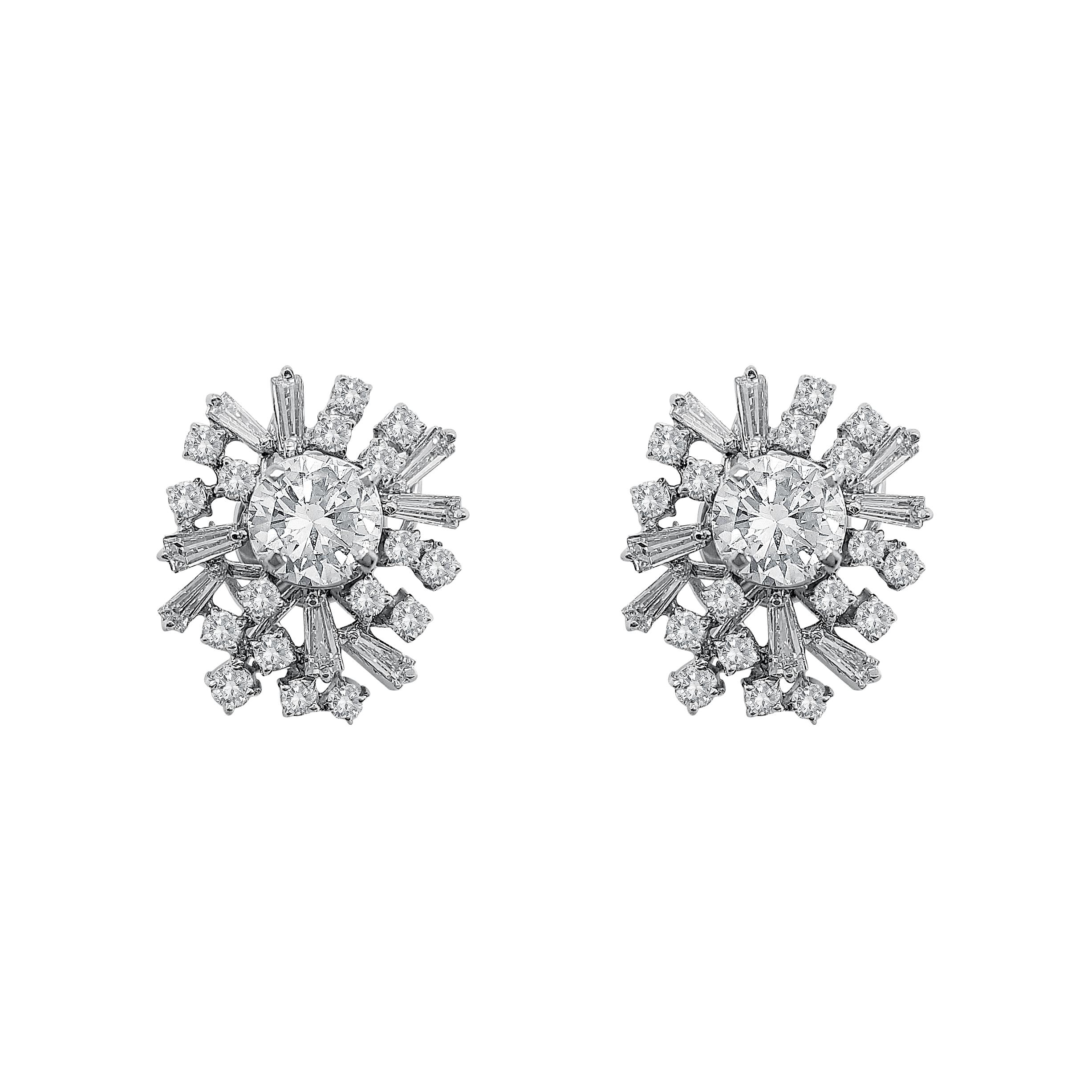 White Diamond Ear Stud