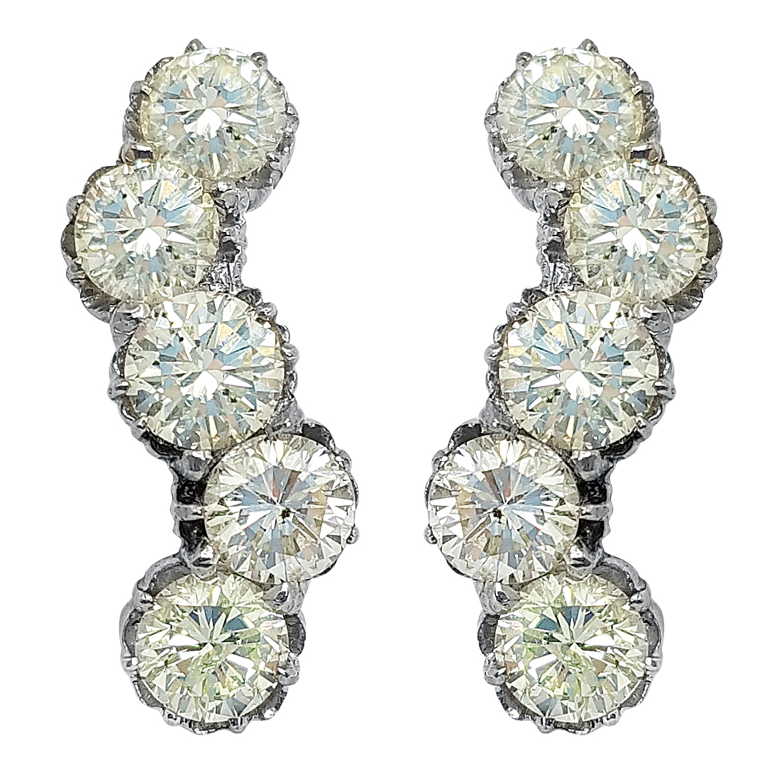 White Gold Diamond Loop Earring
