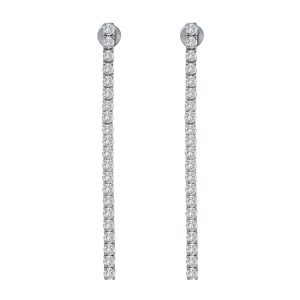 White Gold Diamond Dangling Ear Stud