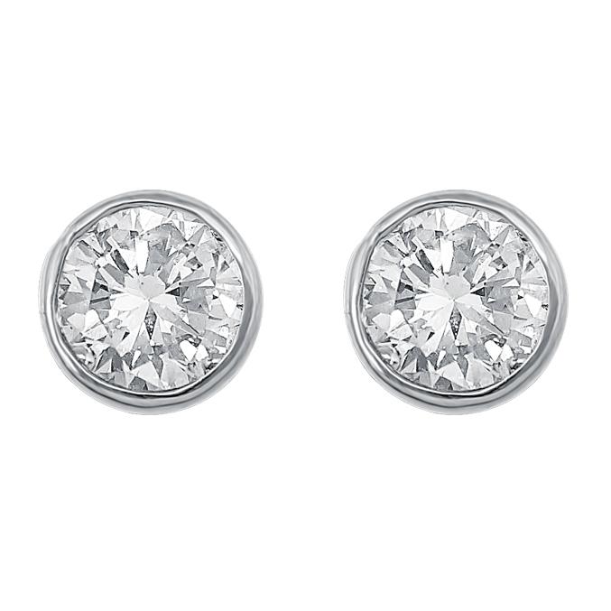 White Gold Diamond Ear Stud