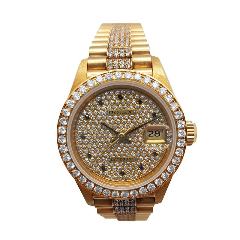 18K Yellow Gold Rolex Ladies with Diamond